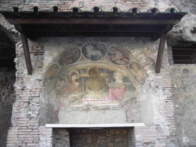 Lunetta affrescata della chiesa di San Biagio del Mercato (XII secolo)